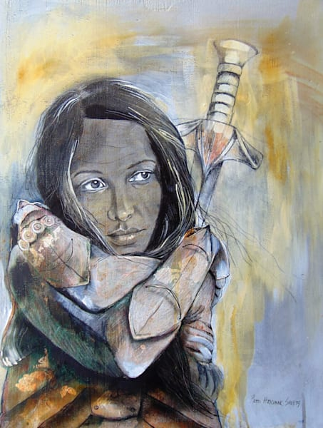 """Warrior 3"" by Patti Hricinak-Sheets 
