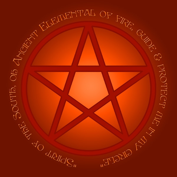 Spirit of Fire Pentacle