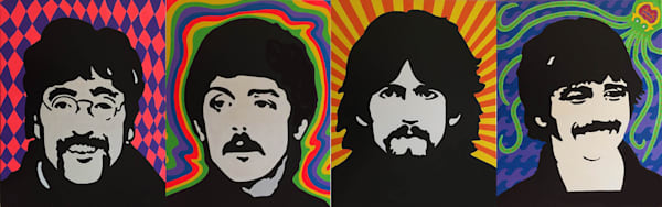 Beatles Collage 1 x 4