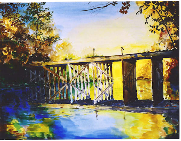 Freeville Railroad Trestle Art | David Beale