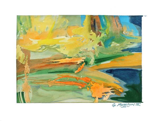 Dreams In Space   Abstract Watercolors   Gordon Meggison IV