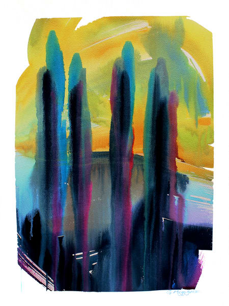 Flowering Mysteries 2 | Contemporary Abstract Watercolors | Gordon Meggison IV