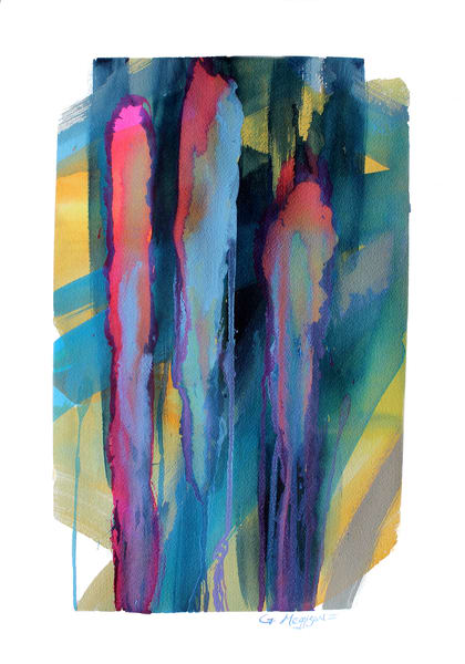 Tears of the Past |  Abstract Watercolors | Gordon Meggison IV