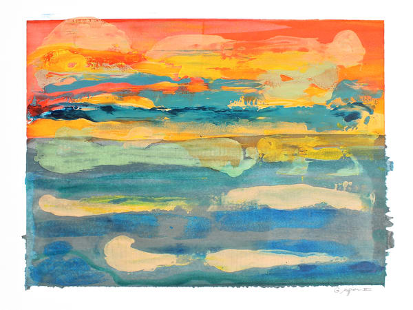 New Day | Abstract Watercolors and Oil Monoprints | Gordon Meggison IV