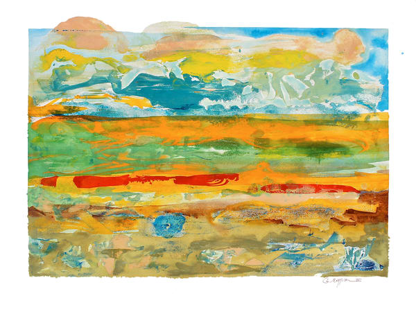 Mirage | Abstract Watercolors and Oil Monoprint | Gordon Meggison IV