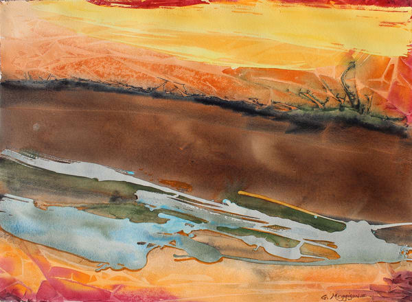Road Less Traveled | Abstract Watercolors | Gordon Meggison IV