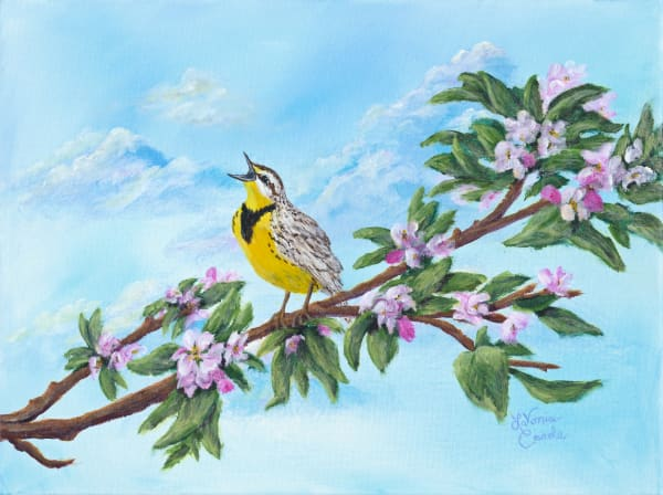 A Joyful Bird Fine Art Print By Solo Artist