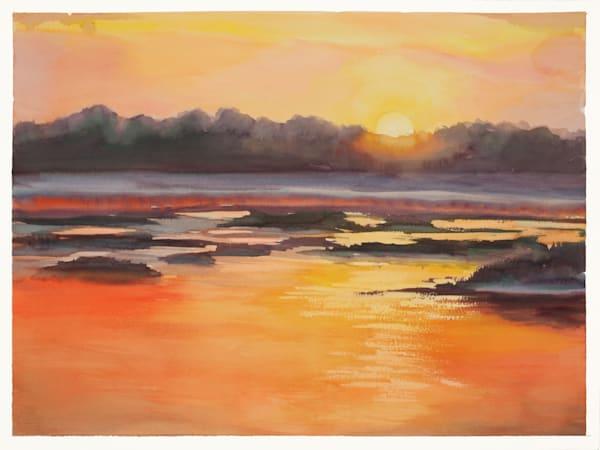 Fernandina Sunrise 2 | Watercolor landscapes | Gordon Meggison IV
