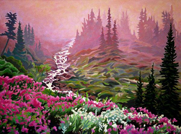 Magenta Mist - Sherry Nielsen landscape painter