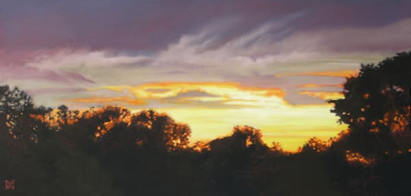 Rooftop Sunset Art for Sale