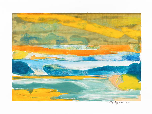 A Beginning | Abstract Watercolors and Oil Monoprints | Gordon Meggison IV