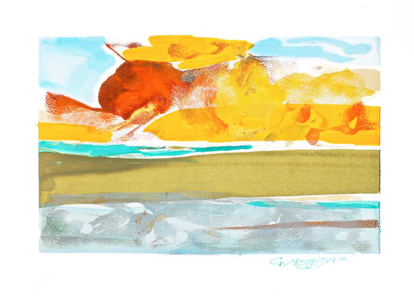 Morning Glory 2 | Oil and Water Monoprint | Gordon Meggison IV
