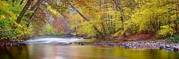 Autumn afternoon on the Quinnipiac River in Meriden CT