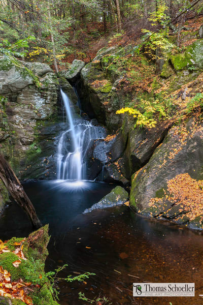 The beautiful cascades of Enders falls during the fall foliage season