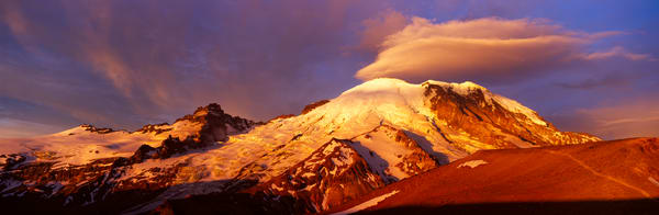 Fine art print of sunrise on Mt. Rainier