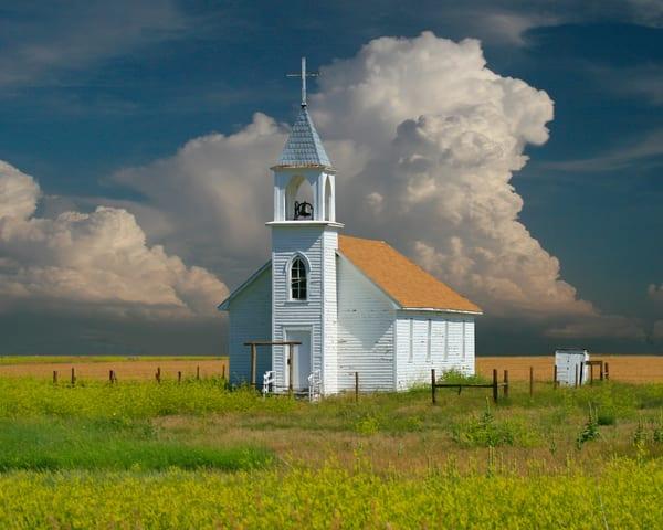 Country Church near the Bad Lands of South Dakota