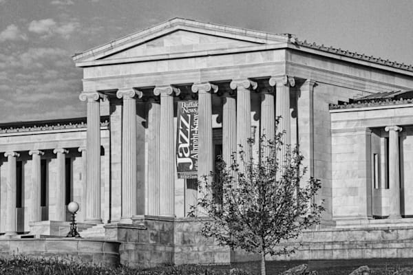 """Albright Knox In Black And White"""