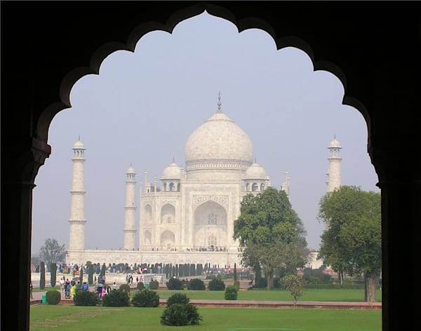 Taj Mahal Framed In