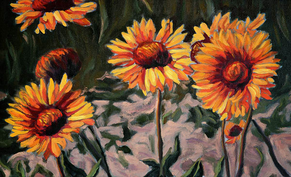 Brown Eyed Susans - Canadian artist Sherry Nielsen