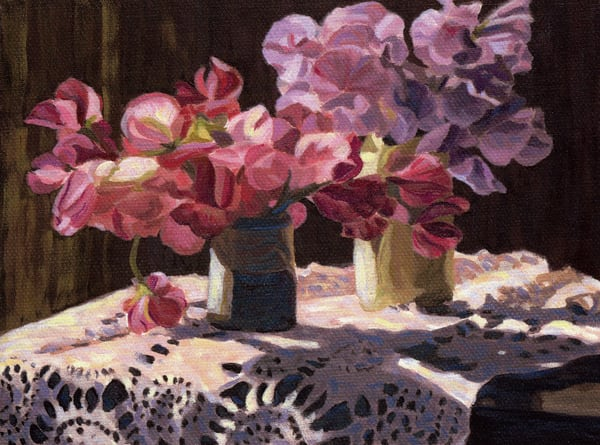 Sweet Peas and Lace - Sherry Nielsen