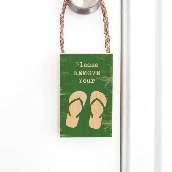 Door Hangers  |  Remove Your Slippers
