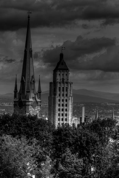 Fine Art Black and White Photograph of Quebec by Michael Pucciarelli