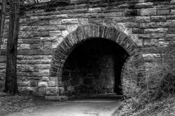 Fine Art Black and White Photographs of Central Park Bridge by Michael Pucciarelli