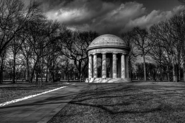 Fine Art Black and White Photograph of the District Memorial by Michael Pucciarelli