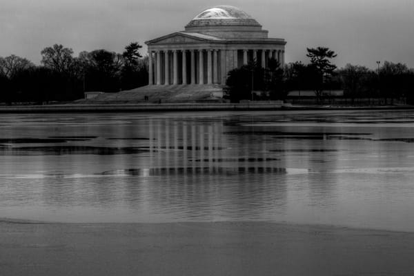 Fine Art Black and White  Photograph of Jefferson Memorial by Michael Pucciarelli