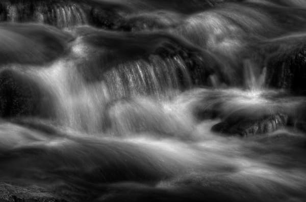 Fine Art Black and White Photograph of Kilgore Falls by Michael Pucciarelli