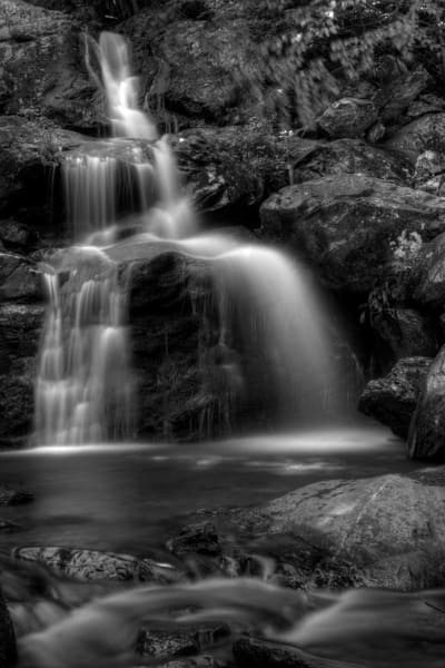 Fine Art Black and White Photographs of Dark Hollow Falls by Michael Pucciarelli