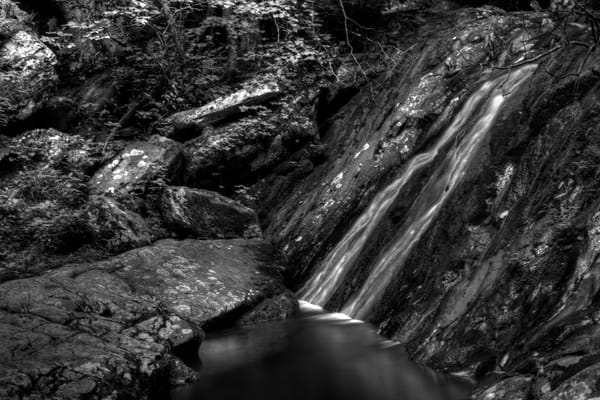 Fine Art Black and White Photographs of Jones Run Falls by Michael Pucciarelli