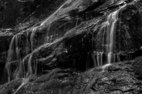 Fine Art Black and White Photographs of Jones Run Falls by Michael Pucciarelli