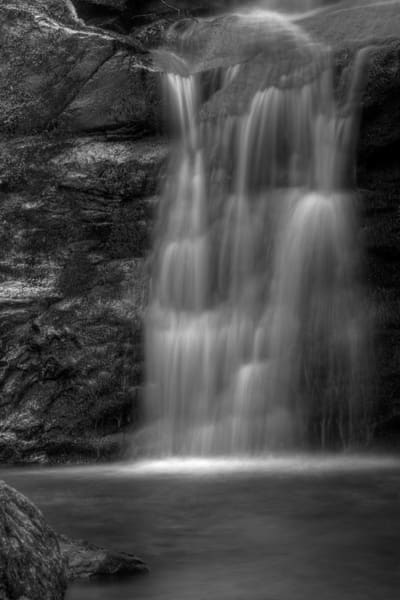 Dark Hollow Falls Fine Art Black and White Photograph by Michael Pucciarelli