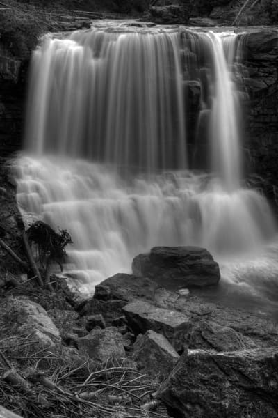 Fine Art Black and White Photograph of Blackwater Falls by Michael Pucciarelli