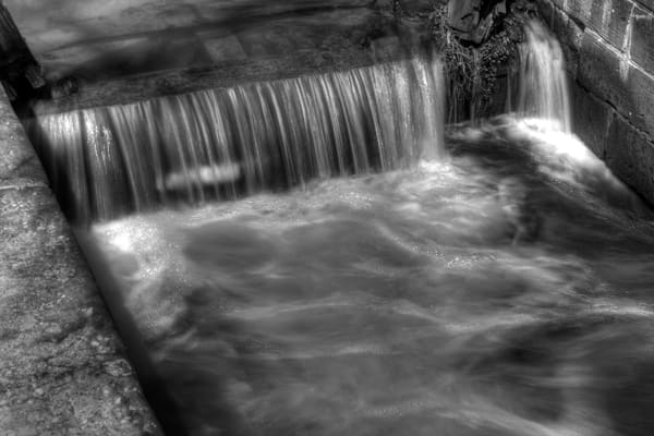 Fine Art Black and White Photograph of Great Falls by Michael Pucciarelli