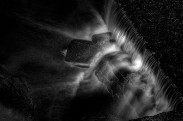 Black and White Fine Art photograph of Rock Creek by Michael Pucciarelli