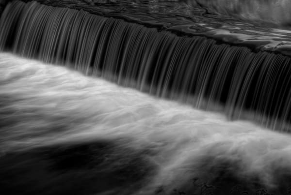 Waterfalls of Rock Creek Black and White Fine Art Photograph by Michael Pucciarelli
