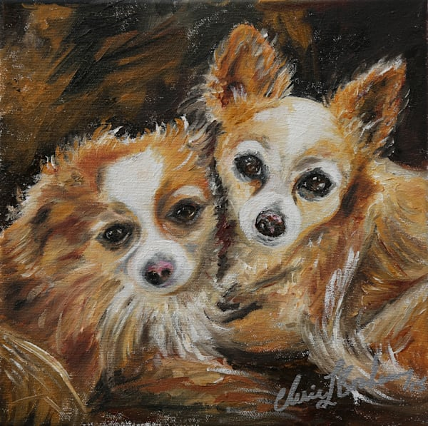 Chihuahua Puppies Painting - Artistic View