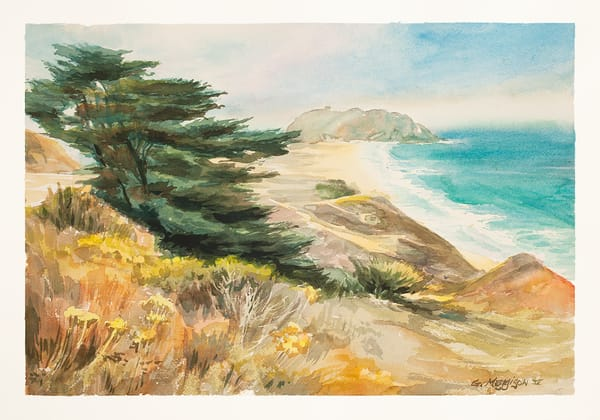 Point Sur | Watercolor Landscapes | Gordon Meggison IV