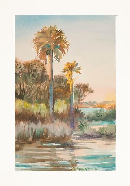 Guana Palms | Watercolor Landscapes | Gordon Meggison IV