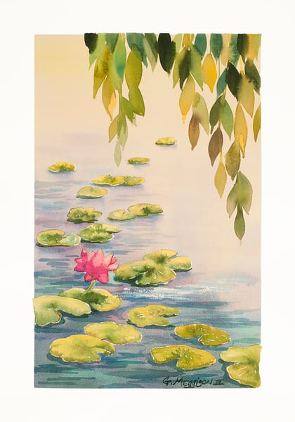 Lotus and Willow | Zen Landscapes | Gordon Meggison IV