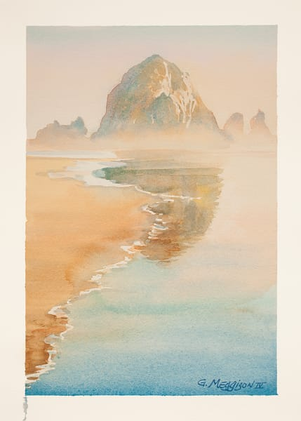 Cannon Beach | Watercolor Landscapes | Gordon Meggison IV
