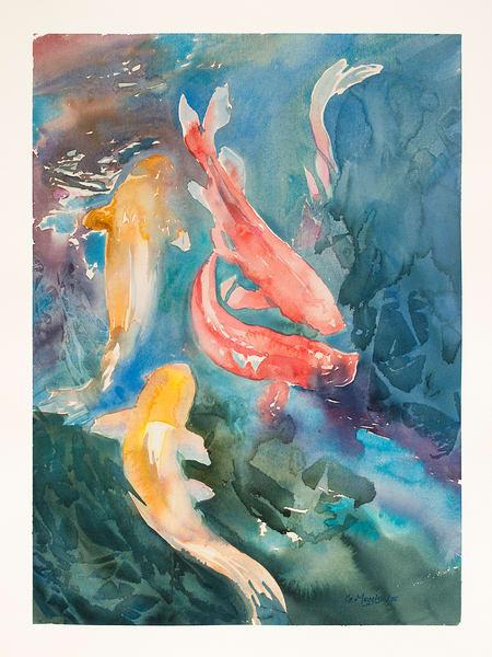 Koi Color | Watercolor Landscapes | Gordon Meggison IV