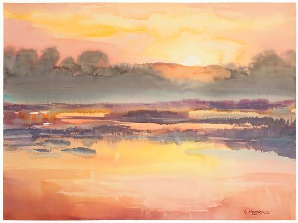 Fernandina Sunrise 3   Watercolor Landscapes   Gordon Meggison IV