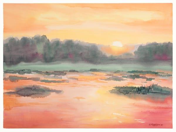 Fernandina Sunrise 5   Watercolor landscapes   Gordon Meggison IV