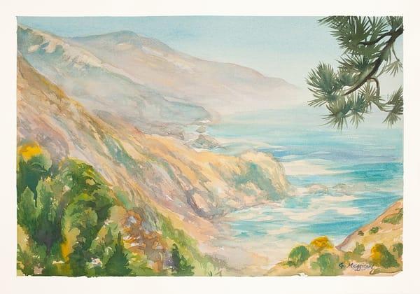 Big Sur View   Watercolor Landscapes   Gordon Meggison IV