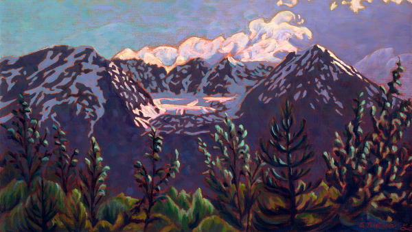 Glacier Highlights - original painting and prints available by artist Sherry Nielsen