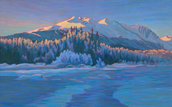 Alpenglow  Eddie Park - Sherry Nielsen, Bulkley Valley Art