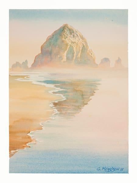 Haystack on Morning | Watercolor Landscapes | Gordon Meggison IV